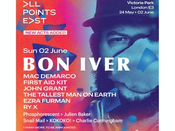 All Points East Festival 2019: Bon Iver, Mac DeMarco, First Aid Kit, John Grant, The Tallest Man On Earth, Ezra Furman, RY X, Phosphorescent, Julien Baker, Snail Mail, Kokoko!, Charlie Cunningham picture