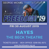 Flyer thumbnail for Freedom! '19 George Michael Tribute Concert: Wayne Dilks as George Michael