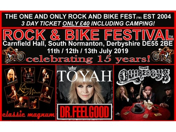 Rock And Bike Fest 2019: Toyah Willcox, The Quireboys, Dr Feelgood, Kingdom of Madness: Classic Magnum, X-UFO, T-Rex (Sounds Of Mark & Mickey), Bad Touch, Neck, Rainbow Rising, Floyd In The Flesh, Surreal Panther, Tom Jovi, She's Pink, AC/DC UK, Hellbent Forever, Exhibit-A, Stone, These Wicked Rivers, VULVA, Iron 2 Maiden, Billy Idol Tribute, Darwins Rejects, The Band From County Hell, Seventh Son, VW+Spam=Clash, Hell On High Heelz, Triple Threat Burlesque picture