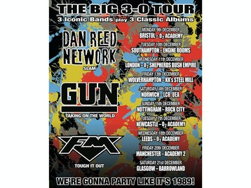 The Big 3-0 Tour: Dan Reed Network, GUN, FM picture