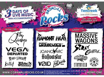 Cornwall Rocks: The Quireboys, Vega, Departed, Sons Of Liberty, KilliT, Black Whiskey, Diamond Head, Groundhogs, Joanovarc, Hollowstar, Void, Luke Doherty, Massive Wagons, Stray, Collateral, Voodoo Vegas, Ethyrfield, Western Sand picture