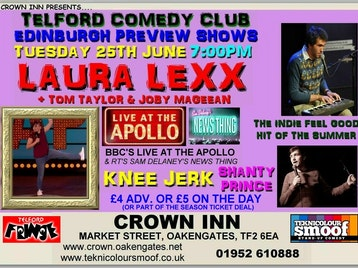 Telford Comedy Club: Laura Lexx, Joby Mageean, Tom Taylor picture
