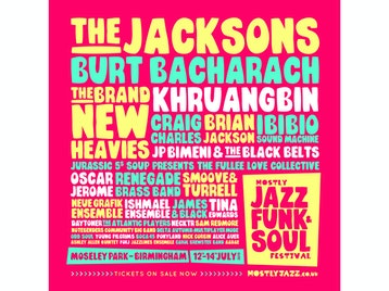 Mostly Jazz, Funk & Soul Festival 2019: The Jacksons, Ibibio Sound Machine, Renegade Brass Band, Fullee Love, Boca 45, E Double D, Young Pilgrims, JP Watson, Alice Auer, Aadae, The Great Outdoors, Odd Soul, Paradise Brothers, Brand New Heavies, Craig Charles, Brian Jackson, JP Bimeni & The Black Belts, Smoove & Turrell, DJ Food, James & Black, Necktr, Daytoner, The Peaceful Ones, Sam Redmore, Matt Beck, Rosie Tee, Shaun Williams, The Atlantic Players, Tom C Walker, Nick Corbin, Swing Era, Sofunk, Burt Bacharach, Khruangbin, Oscar Jerome, Ishmael, Neue Grafik Ensemble, Delta Autumn, Danielle Moore (Crazy P), Tom Mason, Tina Edwards, DJ Uju, Ashley Allen Quintet, Forj, Carole Brewster Band, Jazzlines Ensemble, Swing Era, Northern Soul DJs, Sofunk picture