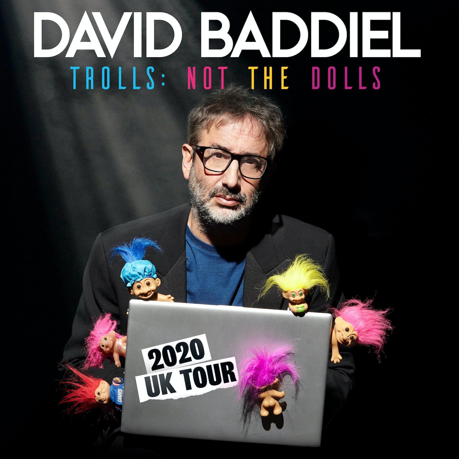 Beck Tour 2020.David Baddiel Hayes Tickets Beck Theatre 12th Mar 2020