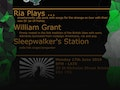 SongSmith: Ria Plays, William Grant, Sleepwalker's Station event picture