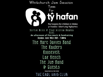 Whitchurch Jam & Tunes For Ty Hafan: Roosevelt, Marc Davies Band, Laz Kench, The Raiders, The Jugband picture