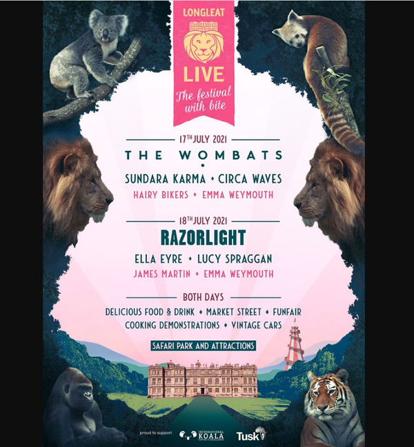 Longleat Live  - The Festival with Bite 2021 2 Events