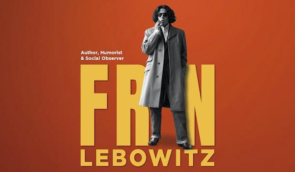 Fran Lebowitz Tour Dates